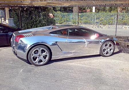 Хромированная Lamborghini Murcielago